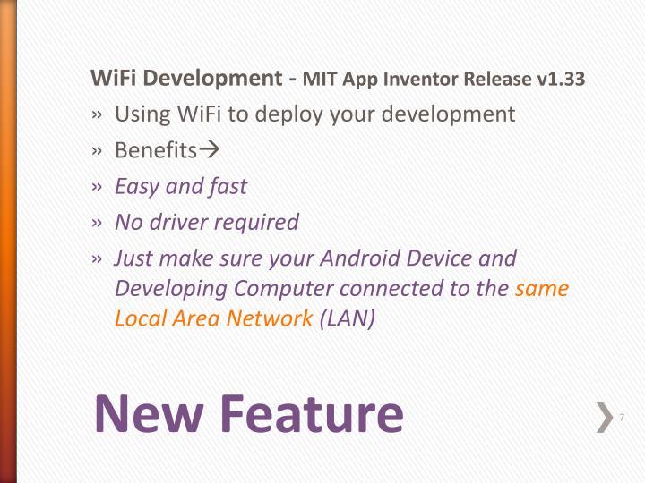 WiFi Development -