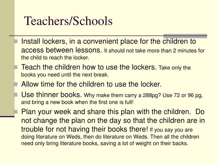 Teachers/Schools