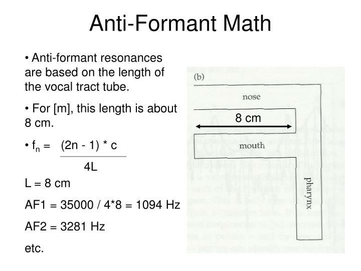 Anti-Formant Math