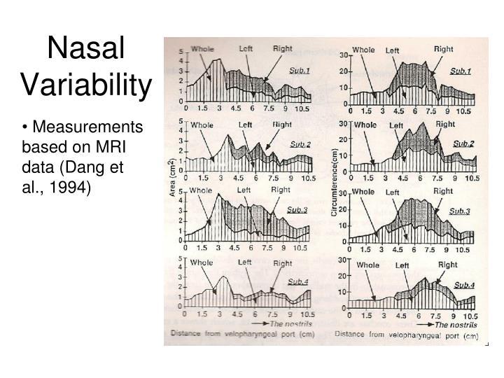 Nasal Variability