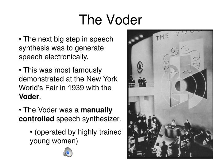 The Voder