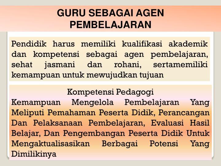 GURU SEBAGAI AGEN