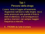 tab 1 percorsi della droga