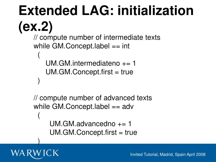 Extended LAG: initialization (ex.2)