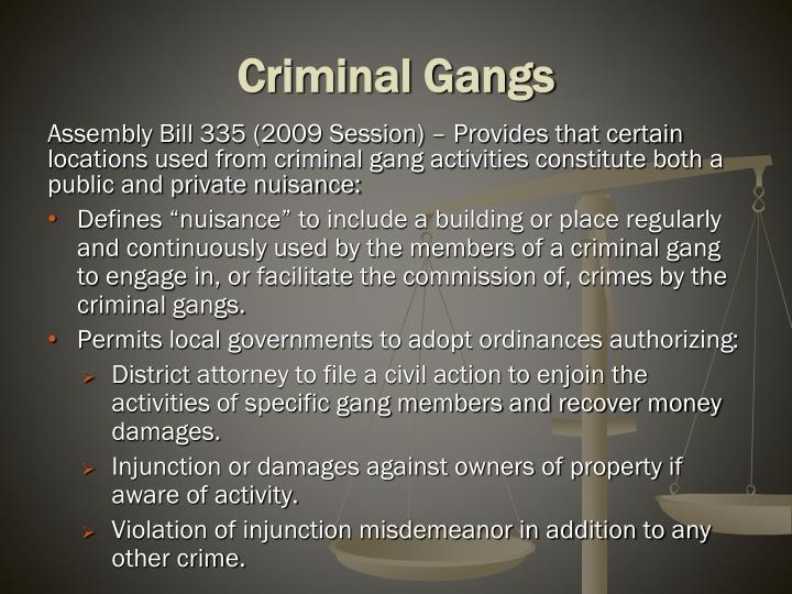 Criminal Gangs