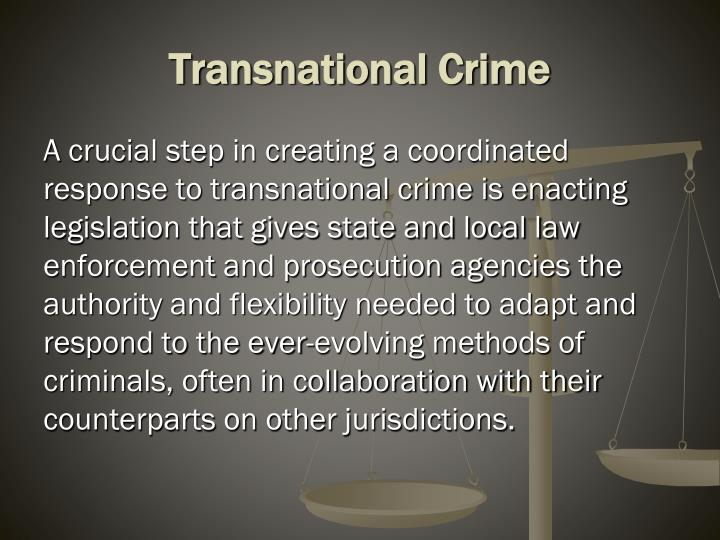 Transnational crime1