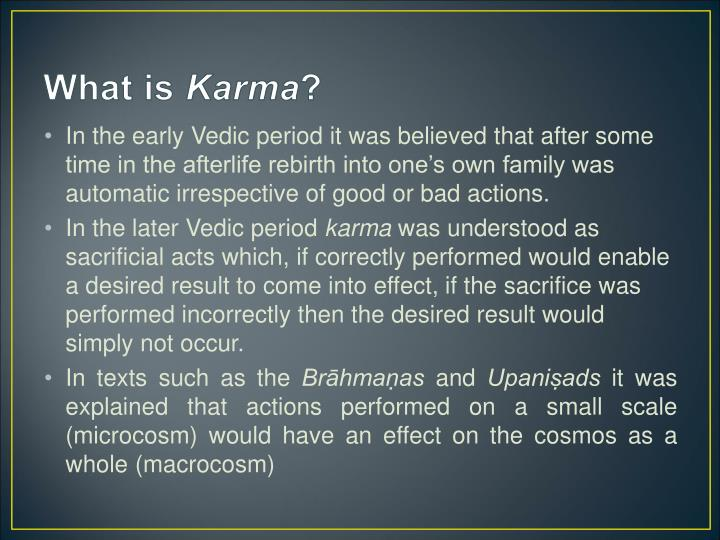 What is karma1