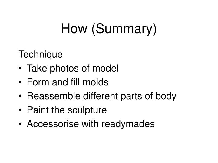 How (Summary)