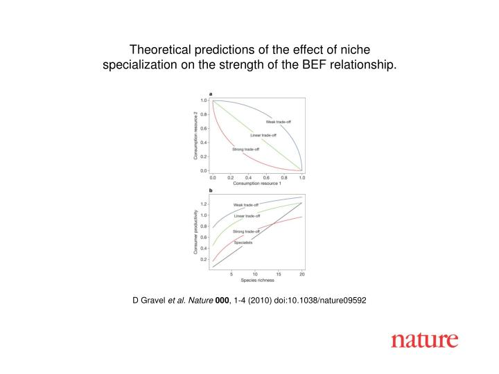 Theoretical predictions of the effect of niche
