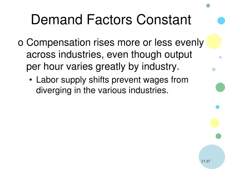 Demand Factors Constant