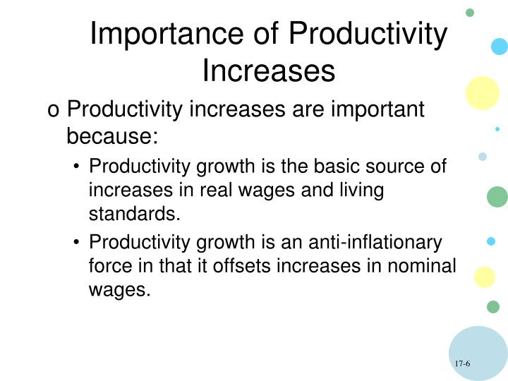 Importance of Productivity Increases