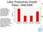 labor productivity growth rates 1948 2008