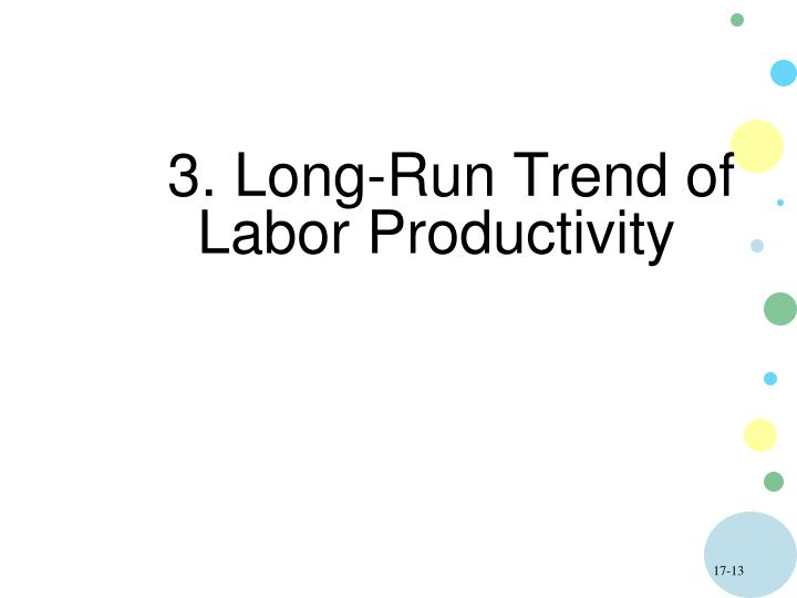 3. Long-Run Trend of Labor Productivity
