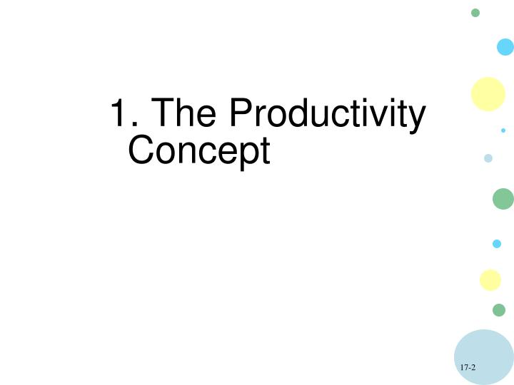 1. The Productivity   Concept