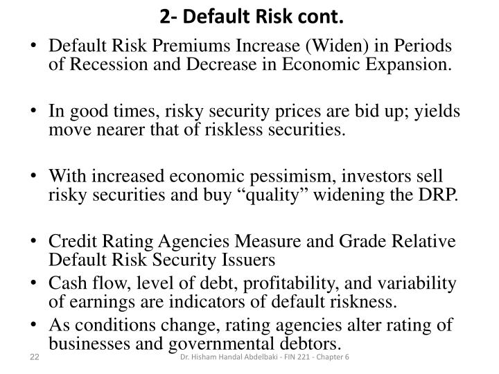 2- Default Risk cont.