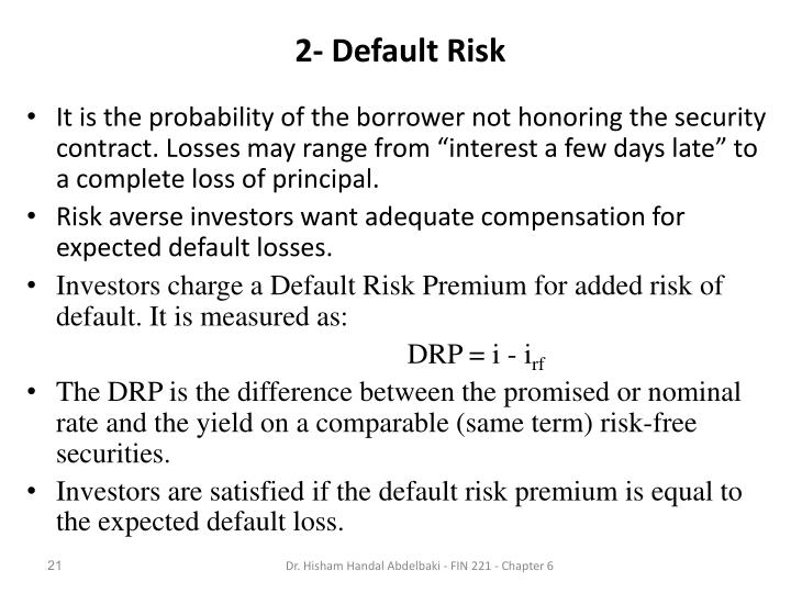 2- Default Risk