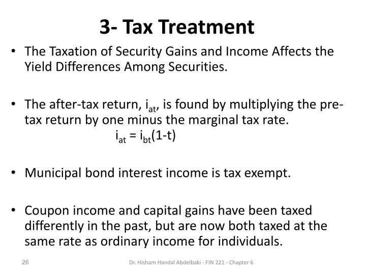 3- Tax Treatment