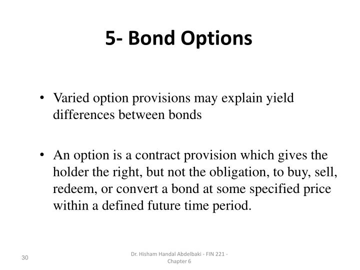 5- Bond Options