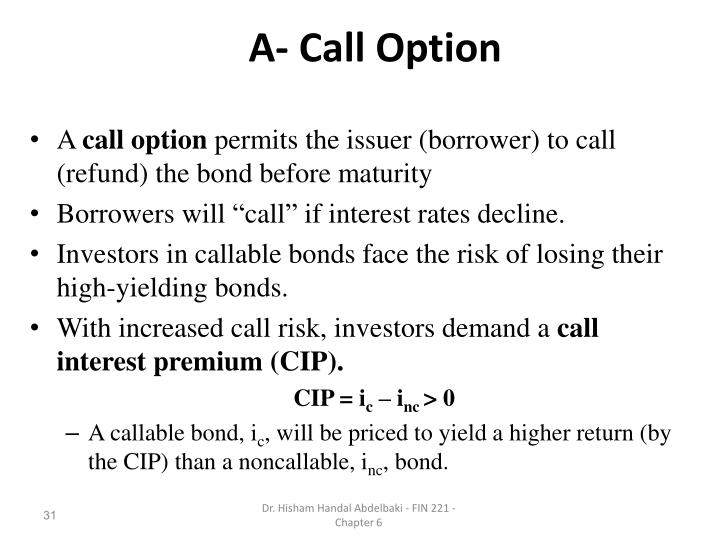 A- Call Option