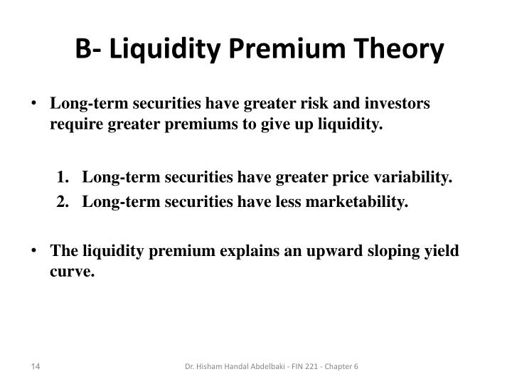 B- Liquidity Premium Theory
