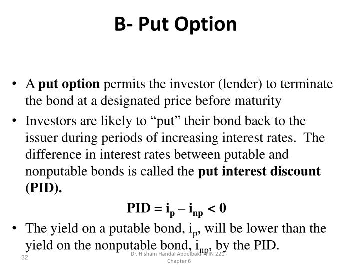 B- Put Option