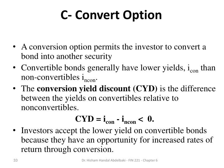C- Convert Option
