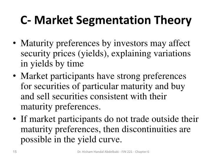C- Market Segmentation Theory