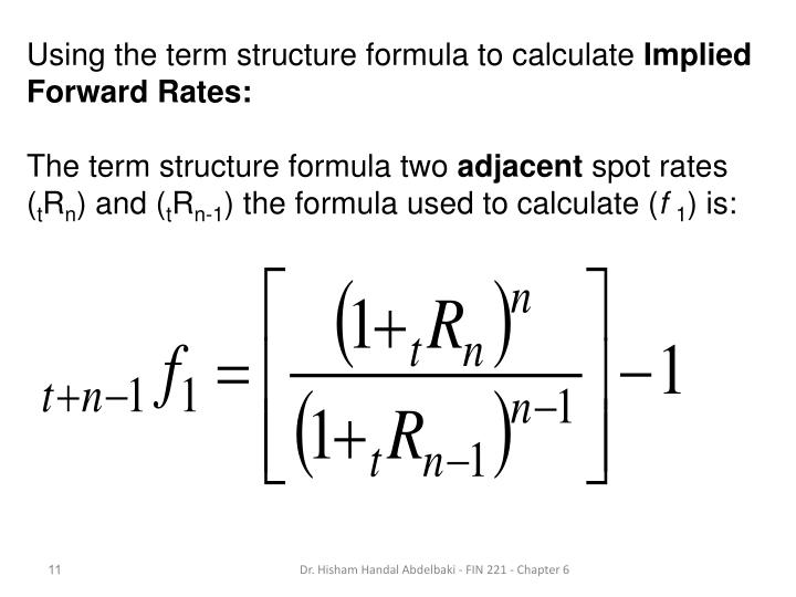 Using the term structure formula to calculate