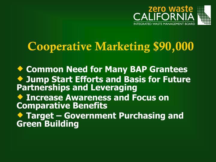 Cooperative Marketing $90,000