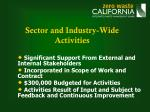 sector and industry wide activities