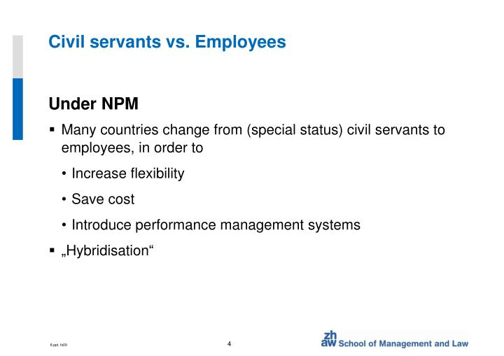 Civil servants vs. Employees