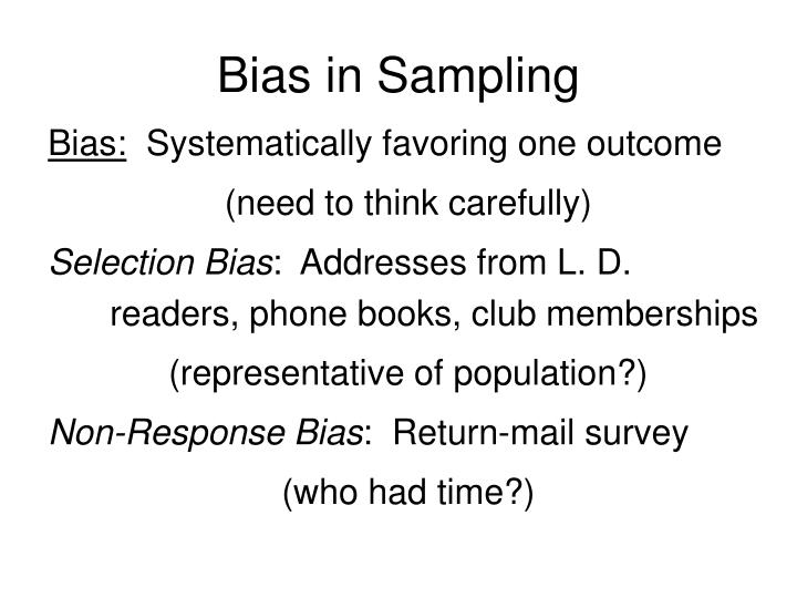 Bias in Sampling