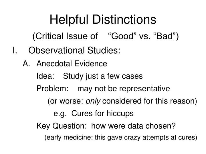 Helpful Distinctions
