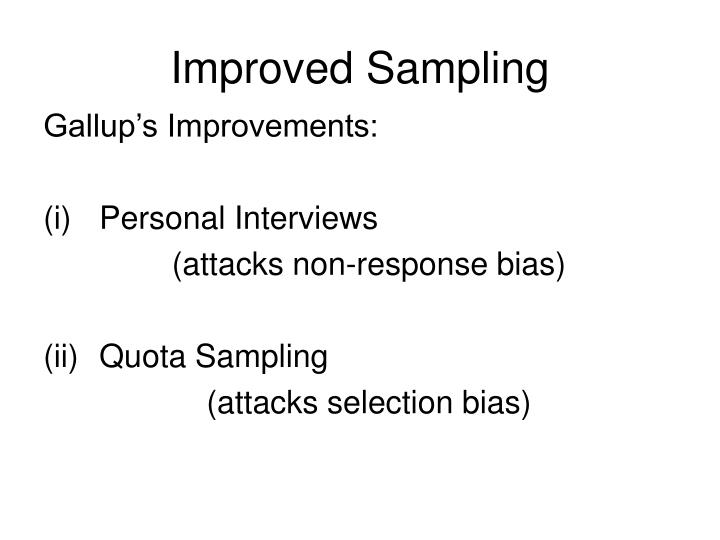 Improved Sampling