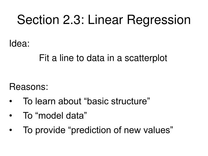 Section 2 3 linear regression