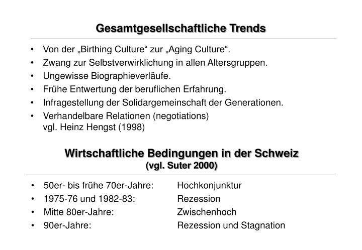 Gesamtgesellschaftliche Trends