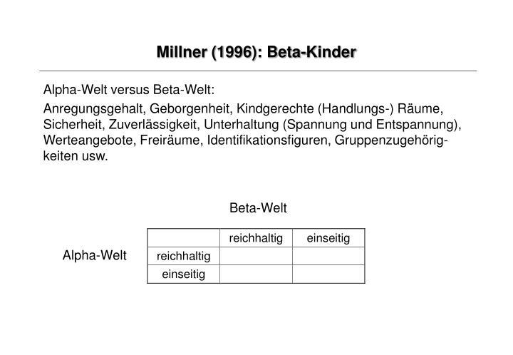 Millner (1996): Beta-Kinder