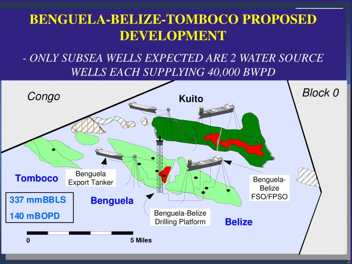 BENGUELA-BELIZE-TOMBOCO PROPOSED DEVELOPMENT