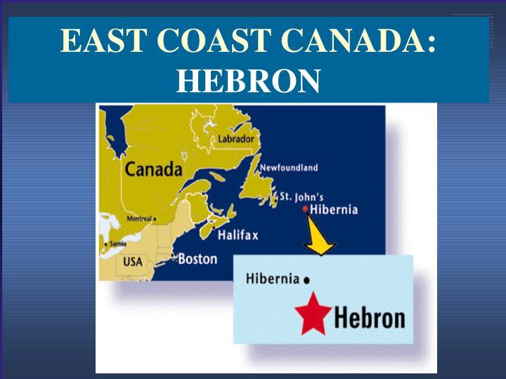 EAST COAST CANADA: