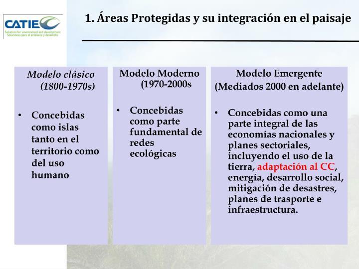 1. Áreas Protegidas y su integración en el paisaje