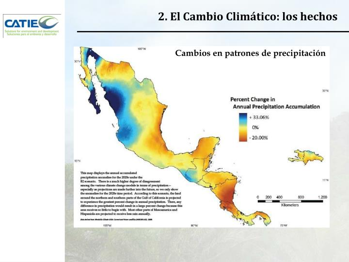 2. El Cambio Climático: los hechos