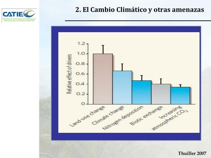 2. El Cambio Climático y otras amenazas