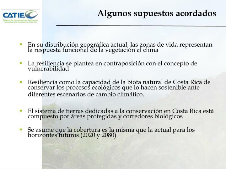 En su distribución geográfica actual, las zonas de vida representan la respuesta funcional de la vegetación al clima