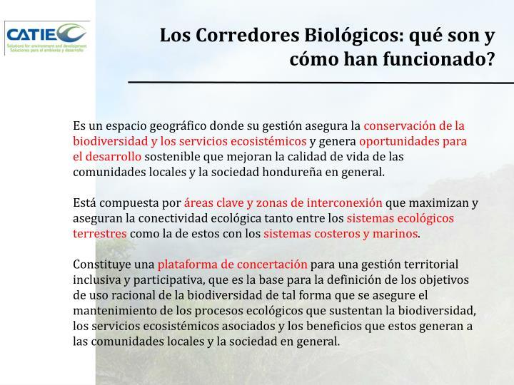 Los Corredores Biológicos: qué son y cómo han funcionado?