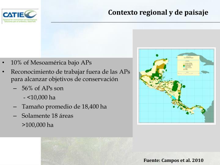 Contexto regional y de paisaje