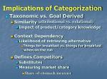 implications of categorization