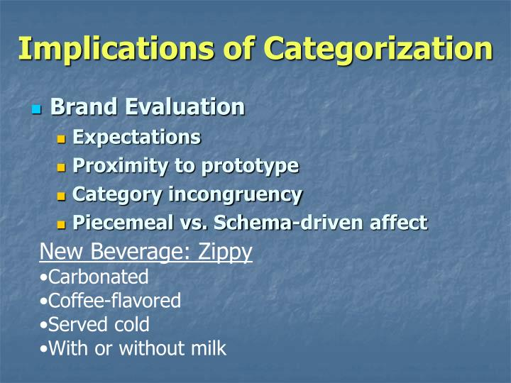 Implications of Categorization