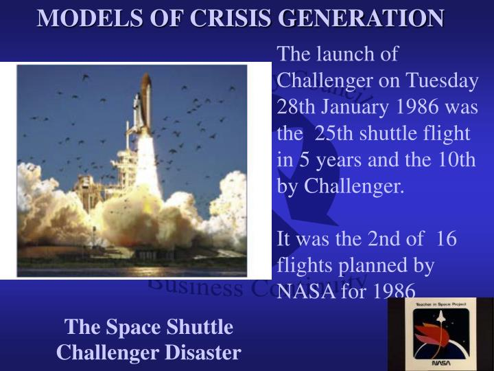 MODELS OF CRISIS GENERATION