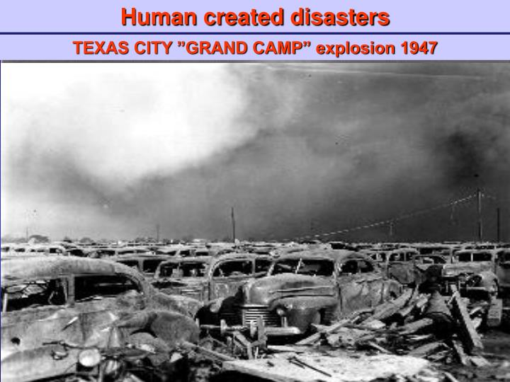 Human created disasters