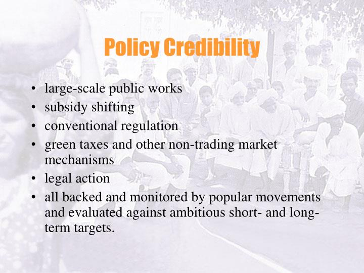 Policy Credibility